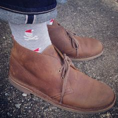 #Clarks | #Desert Boots | #socks | Instagram photo by @jonnyofthea