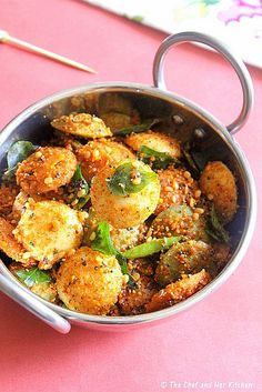 Indian Cuisine chicken -- Click Visit link above to see Indian Veg Recipes, Vegetarian Recipes, Cooking Recipes, Indian Appetizers, Indian Snacks, Idli Recipe, Indian Street Food, Indian Breakfast, Gourmet