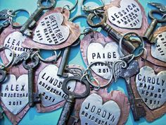 HEARTFELT  Hand Stamped Rustic Antiqued Copper by accessoryalamode