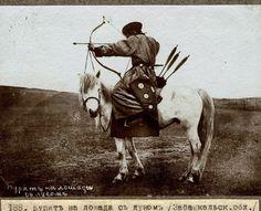Buryat Mongolian mounted archer. Photo by Piotr Shimkevich, 1895.