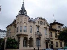 Casa de indianos, Ribadeo, Lugo Porte Cochere, Frocks, Colonial, Indiana, Terrace, Buildings, Germany, Villa, Exterior