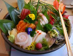 Deluxe sashimi plate.  Picture only.  Gorgeous!