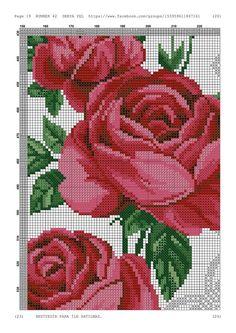 Cross Stitch Borders, Cross Stitch Rose, Cross Stitch Flowers, Cross Stitch Charts, Cross Stitch Designs, Cross Stitch Patterns, Blackwork, Embroidery Stitches, Needlepoint