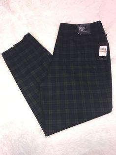 NEW Women's Tommy Hilfiger Tartan Plaid Westpoint Ankle Dress Pants Size 12 B15 #TommyHilfiger #DressPants
