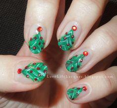 Love Life Lacquer: Christmas Tree #nail #nails #nailart