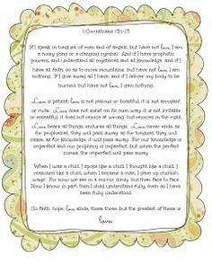 1 Corinthians 13:1-13