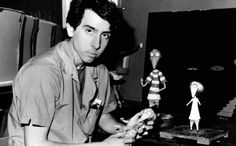 Young Tim Burton working on his short film Vincent.