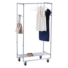Chrome Metal Folding Commercial Clothes Rack