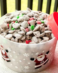 Reindeer Chow (Muddy Buddies) Reindeer Chow, commonly known as muddy buddies but with a fun holiday twist! Chocolate and peanut butter coated crispy cereal, tossed in powdered sugar. Seriously the best snack ever! More from my site Reindeer Chow Holiday Snacks, Christmas Snacks, Christmas Cooking, Christmas Goodies, Holiday Fun, Holiday Recipes, Christmas Parties, Dinner Recipes, Holiday Dinner