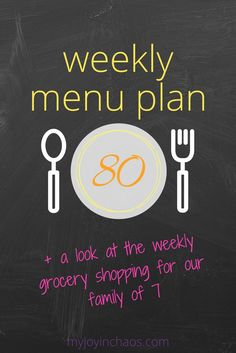 Weekly Menu Plan #80 + a look at the weekly grocery shopping for our family of 7 | Grocery Budget | Meal Planning | Large Family | Easy Meals