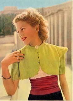 late 30s-early 40s knitting in marie claire