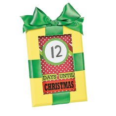 Dry Erase Countdown to Christmas Idea -- use old frame (paint it), use your choice of patterned paper, plus ribbon for the top. Use glass on front as dry erase surface.  Easy.