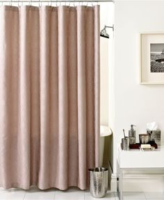 Hotel Collection Bath Diamond Matelasse Shower Curtain