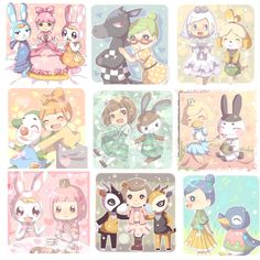 leafnew: 森ログ④ by 愛Permission to upload was given by the artist. Animal Crossing Wild World, Animal Crossing Fan Art, Animal Crossing Memes, Animal Crossing Pocket Camp, Animal Games, My Animal, Funny Animals, Cute Animals, New Leaf