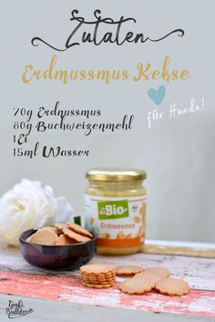Rezept: Erdnussmus Kekse für Hunde selbst backen - www.Genkibulldog.de