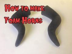 How To Make Foam Horns, Tutorial. - YouTube