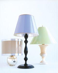 High gloss paint can transform plain white paper lampshades