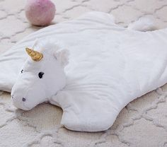 Unicorn Fur Plush Play Mat   Pottery Barn Kids