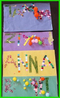 Trabajaremos nuestro nombre usando diferentes texturas. Para ello escribiremos en un papel de color a lápiz nuestro nombre, después aplicar...
