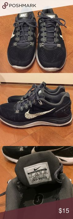 Nike Lunarglide 5 Running Shoes In good condition, size 7, black and white Nike Shoes Athletic Shoes