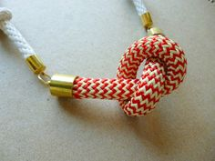 Knotted Rope Necklace  FREE SHIPPING
