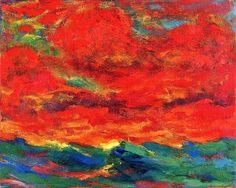 Landschaftsmalerei expressionismus nolde  Emil Nolde   Sky and Sea, 1930   Schönes   Pinterest   Malerei ...