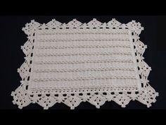 Tapete Com Tranças em Crochê por Wilma Crochê - YouTube