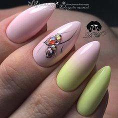 # Pink & Yellow Nail