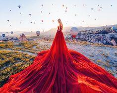 Kristina Makeeva, aka Hobopeeba, captures girls in beautiful dresses against incredible landscapes Foto Art, Fantasy Dress, Jolie Photo, Beautiful Gowns, Beautiful Places, Wonderful Places, The Dress, Pretty Dresses, Wedding Gowns