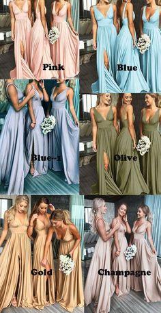 Dyb v-hals split side brudepigekjoler til bryllup - brudekjole - # brud ., Dyb V-hals split side brudepige kjoler til bryllup - brudekjole - # brudepige # deep # klæder # hals. Cute Wedding Ideas, Perfect Wedding, Wedding Day, Wedding Themes, Wedding Hacks, Green Wedding, Wedding Events, Wedding Stuff, Wedding Advice