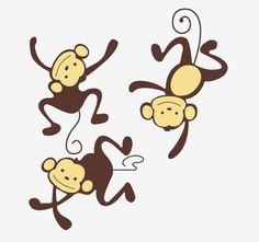 Muursticker apen