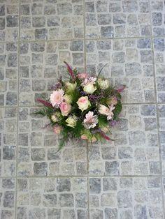 rouwstuk roze wit