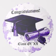 Blow your guests away with Congratulations balloons from Zazzle! Fill up a room with helium and table top balloons for your party or celebration. Helium Gas, Purple Balloons, Custom Balloons, Party Napkins, School Colors, Purple Yellow, Colorful Backgrounds, Congratulations, Graduation