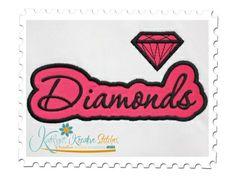 Diamonds Applique Script