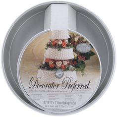 Shop for Wilton Decorator Preferred Round Cake Pans (Set of . Get free delivery On EVERYTHING* Overstock - Your Online Crafts Shop! Cake Decorating Supplies, Baking Supplies, Professional Cake Decorating, Cake Pan Sizes, Wilton Cake Pans, Cake Accessories, Pan Set, Round Cake Pans, Baking Pans