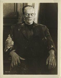 Boris Karloff as The Monster, in Bride Of Frankenstein.