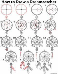 How to Draw a Dreamcatcher Step by Step                                                                                                                                                                                 More