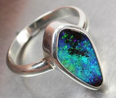 BOULDER OPAL RING--FACTORY DIRECT 7.5-RING SIZE [SOJ395]