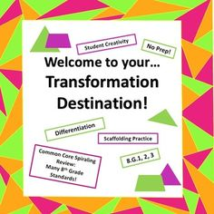 Welcome to your Transformation Destination!  This bundle includes all of my Transformation Practice and Common Core Spiraling Review products, and an activity for students to create their own set of transformations...perfect for differentiating with your students!