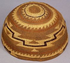 Northern California Polychrome Twined Hat |  c. 1900