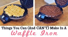 Things You Can Make In A Waffle Iron