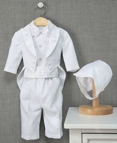 Lauren Madison Baby Boy Christening Baptism Infant Vestie Set With Short Haddad Brothers Clothing 1436