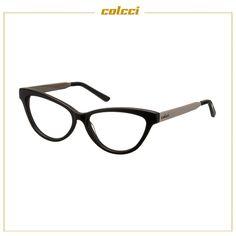 d54c9cb8a8 Armação de Grau Colcci C6021 Preto e Prata Feminino - Colcci Eyewear