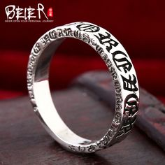 Beier 925 silver sterling jewelry 2015 retro gothic om main padme hun character popular  for man and women ring  BR925R017