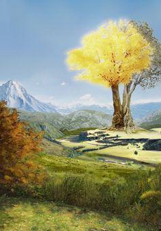A Legendarium Enthusiast the two trees of telperion and laurelin - silmarillion