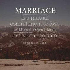 A mutual commitment to love.