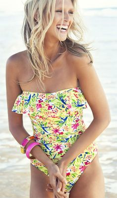 ... having sunkissed skin and wear colorfull bathing suits