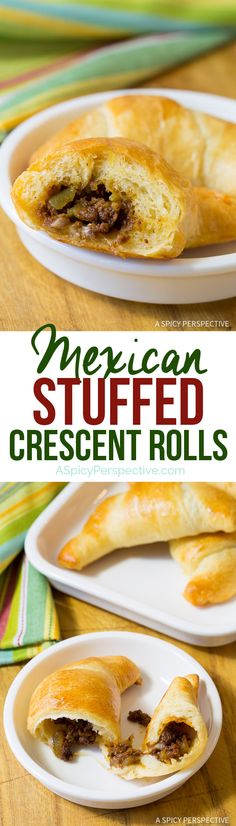 Easy 5-Ingredient Mexican Stuffed Crescent Rolls Recipe | ASpicyPerspective.com