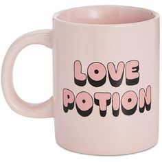 ban.do Hot Stuff Love Potion Ceramic Mug ($3.43) ❤ liked on Polyvore featuring home, kitchen & dining, drinkware, love potion and ceramic mugs