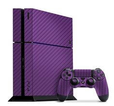 Give your PS4 a punch of color with this Purple Carbon Fiber Slickwrap available now at www.slickwraps.com!